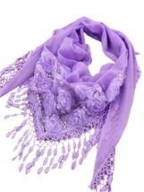 Women's Scarf Comfy Tassel Embroidery Pattern Soft Elegant Scarf - $11.99