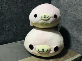"San-X Mamegoma Sakura-Goma Pink Seal 16"" 22"" Plush Lot/2 - $57.42"