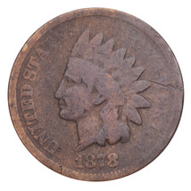 1878 Indian Head Cent 1C Penny (Good, G Condition) Complete Rims - $34.65
