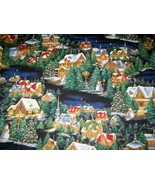 fabric cotton Christmas Fabulous Village scene Hobby Lobby OOP HTF by th... - $10.89