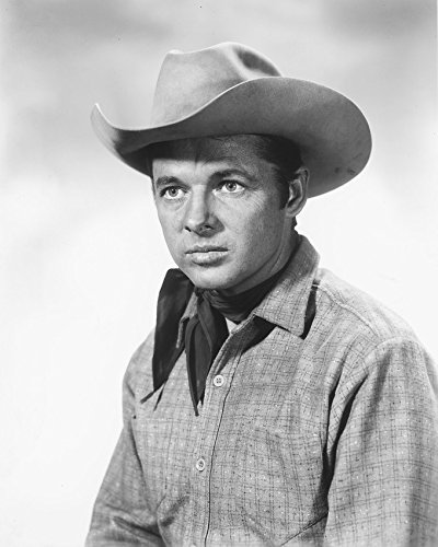 Primary image for Audie Murphy Western Portrait B&W Print 16X20 Canvas Giclee