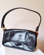 Cole Haan Small Size Genuine Leather Black Clutch Shoulder Bag - $24.74