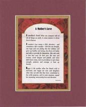 Touching and Heartfelt Poem for Mothers - A Mother's Love Poem on 11 x 14 inches - $15.79