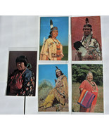 NA7 Lot of 6 Native American Women Traditional Clothes Chrome Postcards ... - $5.55