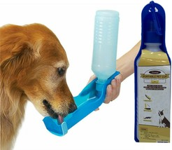 Portable Pet Dog Cat Outdoor Travel Water Bowl Bottle Feeder Drinking Fo... - $6.35