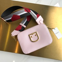 FURLA BRAVA Mini Crossbody Messenger Bag Pink Authentic  - $265.00