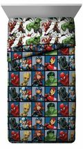 Marvel Avengers Team Full Size Bed Comforter 76in x 86in image 3