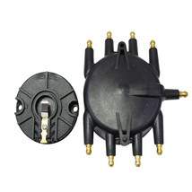 Low Profile Crab Style Replacement Distributor & Rotor Cap Male Black MSD Type image 2
