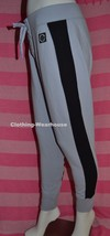 Victoria's Secret Pink Lace Up Skinny Collegiate Pants Sweatpants Black Stripe M - $54.99