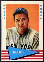 1961 Fleer #75 Babe Ruth Reprint - MINT - New York Yankees - $1.98