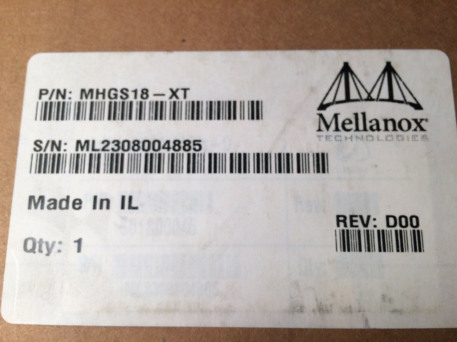 Voltaire InfiniBand HCA 410Ex-D 501S00046 PCIe Single Port Host Adapter