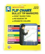 New in Box Sanford Flip Chart Bullet Tip Markers 8 Assorted Color Set #2... - $5.74