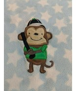 """Carters Just One You Blue Star Baseball Monkey Baby Blanket About 28"""" x 38"""" - $11.66"""