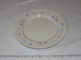 "Mikasa Satin Ivory K7001 Andrea Japan 8"" Salad Plate off white blue lave... - $39.59"