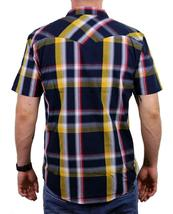 NEW LEVI'S MEN'S CLASSIC COTTON CASUAL BUTTON UP PLAID NAVY GLD-3LYSW6102 image 3