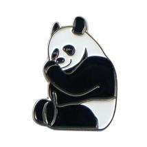 Panda Metal Enamel  tie pin, Lapel Pin Badge, in gift box detailed design