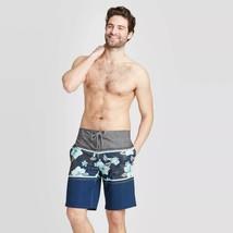 "Men's 10"" Rise Up Lights Board Shorts - Goodfellow & Co Blue 33 - $14.84"