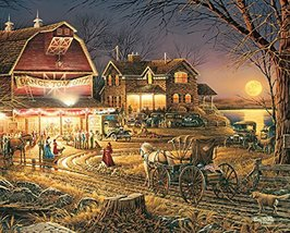 White Mountain Puzzles Harvest Moon Ball - 1000 Piece Jigsaw Puzzle - $55.41