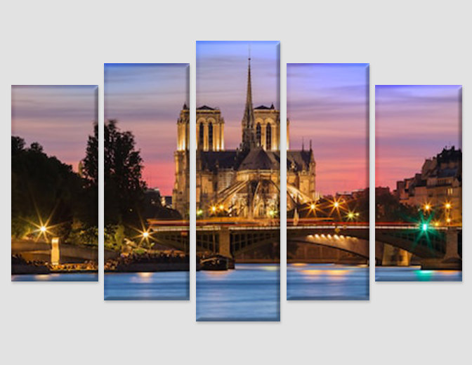 The Notre Dame Cathedral in Paris Canvas Art France Wall Art Catholic French Got