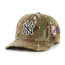 MLB New York Yankees Hat Camo Adjustable New Team Logo Military USA Zipper - $47.47