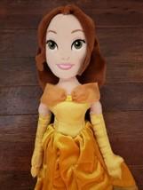 "Disney Store Beauty & the Beast 20"" Princess Belle Plush in Gold Dress - $14.50"