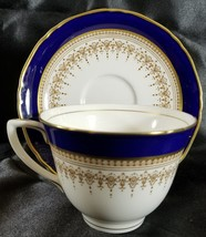 Royal Worcester REGENCY Blue Cup and Saucer (multiple available) - $39.74