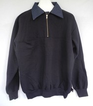 EMT Game Workwear 1/4 Zip Pullover Firefighter Paramedic Elbow Patches S... - $29.69