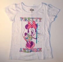Disney Minnie Mouse Toddler Girls Pretty Awesome T-Shirt Size 4T NWT - $9.79
