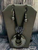 Fashion Jewelry Hematite Necklace And Earring Set - $4.55