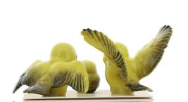 Hagen Renaker Miniature Canary Family Ceramic Bird Figurine Set of 3 image 6