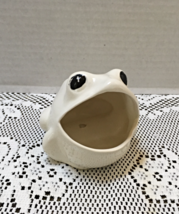 Vintage Inspired BIG MOUTH FROG SPONGE HOLDER Trinkets Rings Planter - $6.99