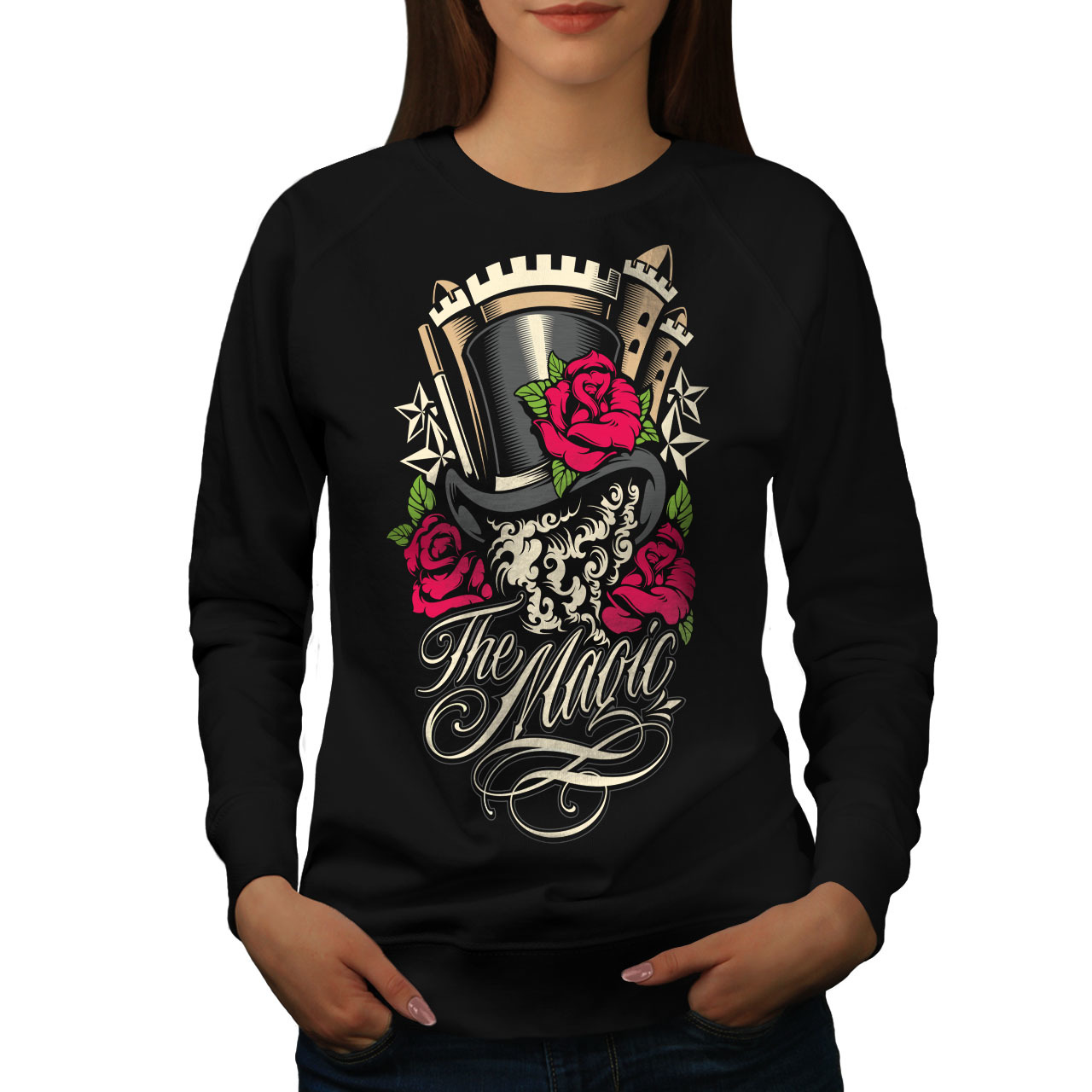 Primary image for The Magic Rose Jumper Illusion Women Sweatshirt