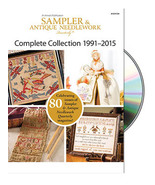 The Sampler & Antique Needlework Quarterly 1991-2015 Collection DVD - $50.00
