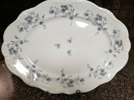 "Johann Haviland Blue Garland 15"" Oval Platter - $7.20"