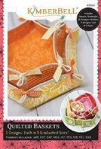 Kimberbell  KD553 Quilted Baskets Machine Embroidery CD - $29.65