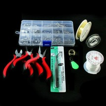 Jewelry Kit Beads Pliers Wires Accessories Tools Creative Do It Yourself... - $24.73
