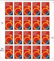 1999 Prostate Cancer Awareness 20 Stamps 33c Sheet Scott 3315 - $9.99