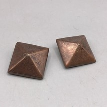 Vintage Copper Design Clip On Earrings - $28.70