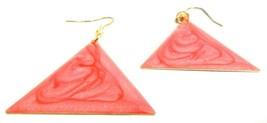 ILLUMINATI PINK Earrings - Drop Long Dangling Hook- Classy Fashion Women P4 - $6.89