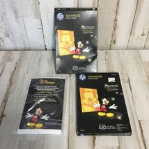 HP Advanced 4 X 6 Glossy Photo Paper Mickey Mouse On Box Cover 38 Sheets Total - $13.98
