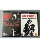 Max Payne 2 The Fall of Max Payne and Devil May Cry (Sony PlayStation 2)... - $17.49