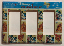 Art of Disney Friendship Stamps Light Switch Outlet Wall Cover Plate Home decor image 7