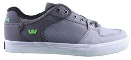 Supra Men's Vaider Low Fade Grey/White Nylon Skateboard Shoes Sneaker S36042 NIB image 5