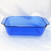 "Pyrex 213-R Cobalt Blue Loaf Pan 1.5qt Baking Dish 8.5""x4.5""x2.5"" image 2"
