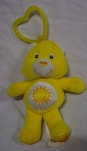 "Care Bears MINI YELLOW FUNSHINE BEAR 4"" Plush KEYCHAIN CLIP STUFFED ANIMAL - $14.85"