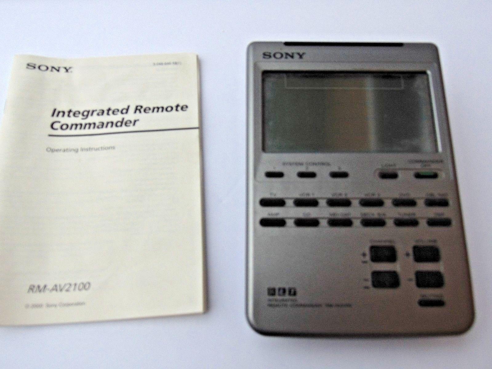 sony rm av2100 lcd universal integrated and 50 similar items rh bonanza com sony remote commander rm av2100 manual Sony Products and Accessories