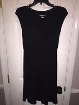 Liz Lange Womens Black Cap Sleeve Maternity Dress sz S New - $13.82