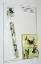 German Shepherd Dogs Gift Set Deck of Cards Roller Pen Pad Paper New  - $15.83