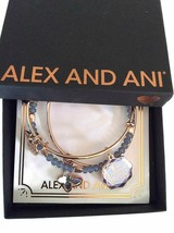 Alex and Ani Be Present in All Things Set of 3 Bangle Bracelet Shiny Rose NWTBC - $89.10