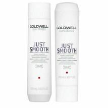 Goldwell Dualsenses Just Smooth Taming Shampoo&Conditioner 300ml -SET NEW! FRESH - $29.21